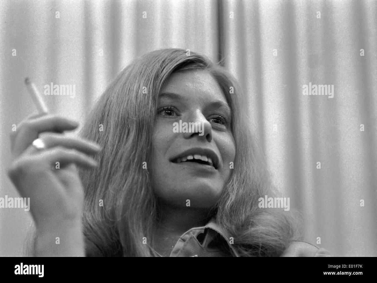 Angelika Baumgart personalities portraits europe 1960 1969 stock photos