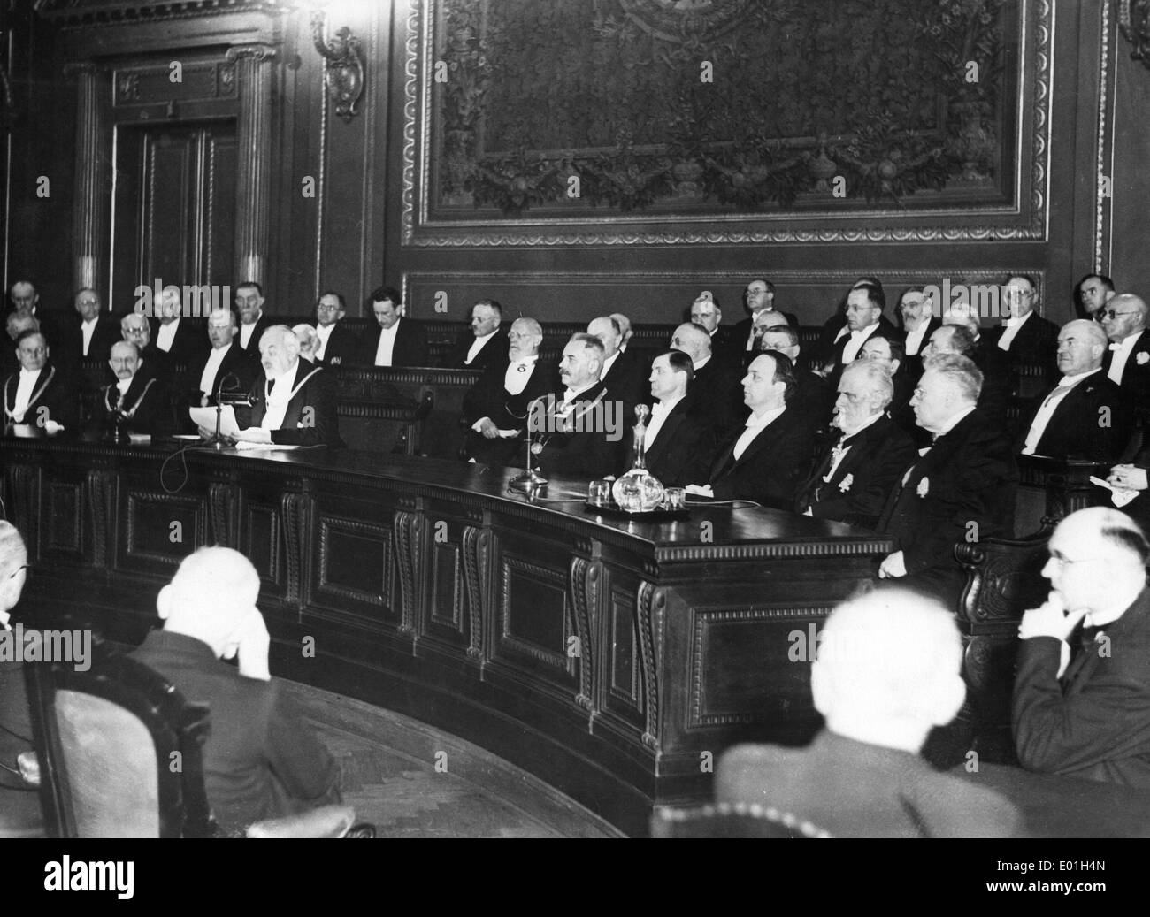 Public meeting of the Prussian Academy of Sciences, 1934 Stock Photo