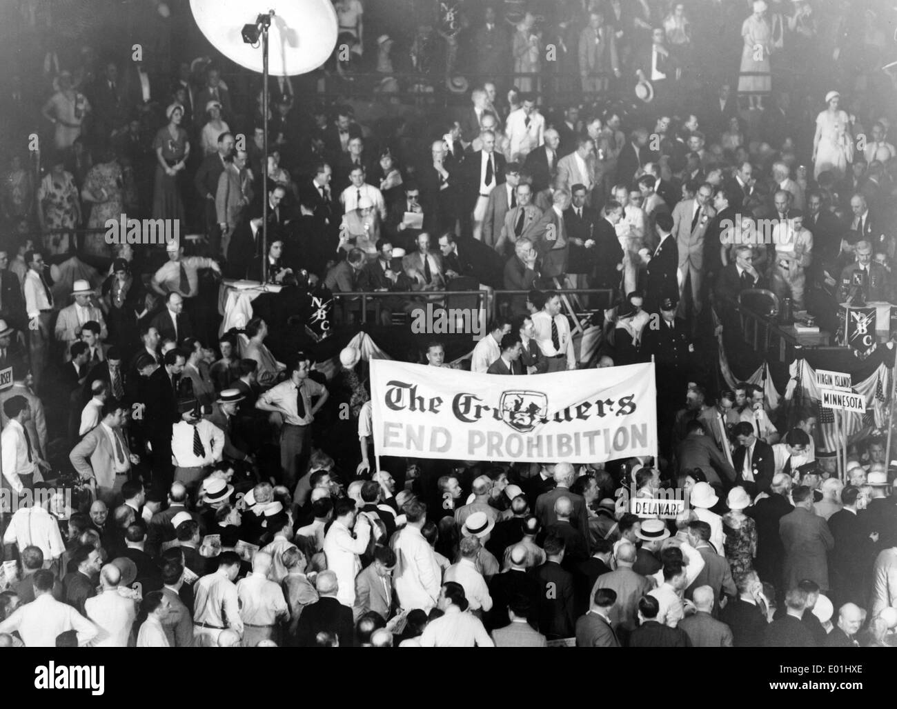 Prohibition: An anti-prohibition movement, the Crusaders, in Chicago, 1932 Stock Photo