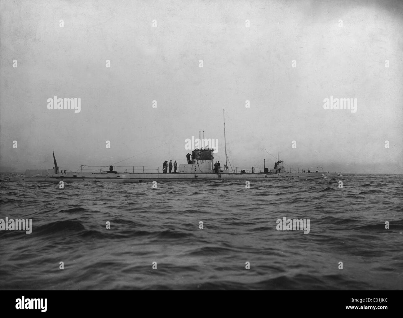 German submarines U-12 and U-14, 1914 - Stock Image