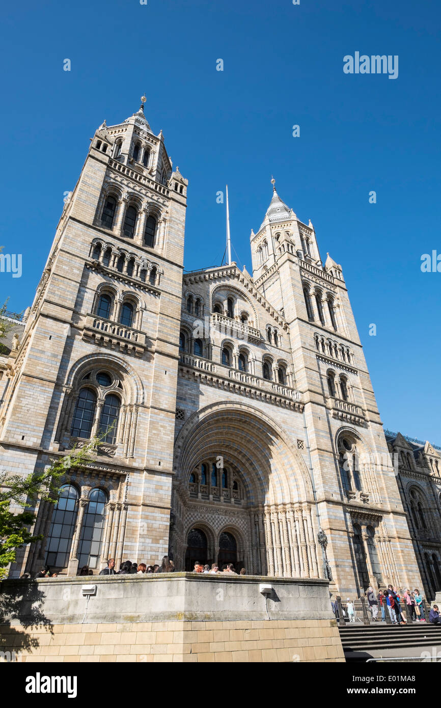 Entrance to the Natural History Museum in London United Kingdom - Stock Image