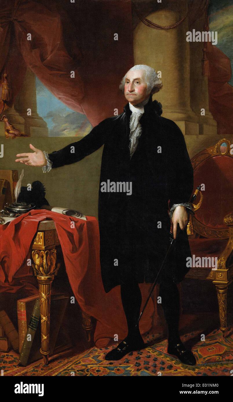 Gilbert Stuart George Washington (The Lansdowne Portrait) - Stock Image