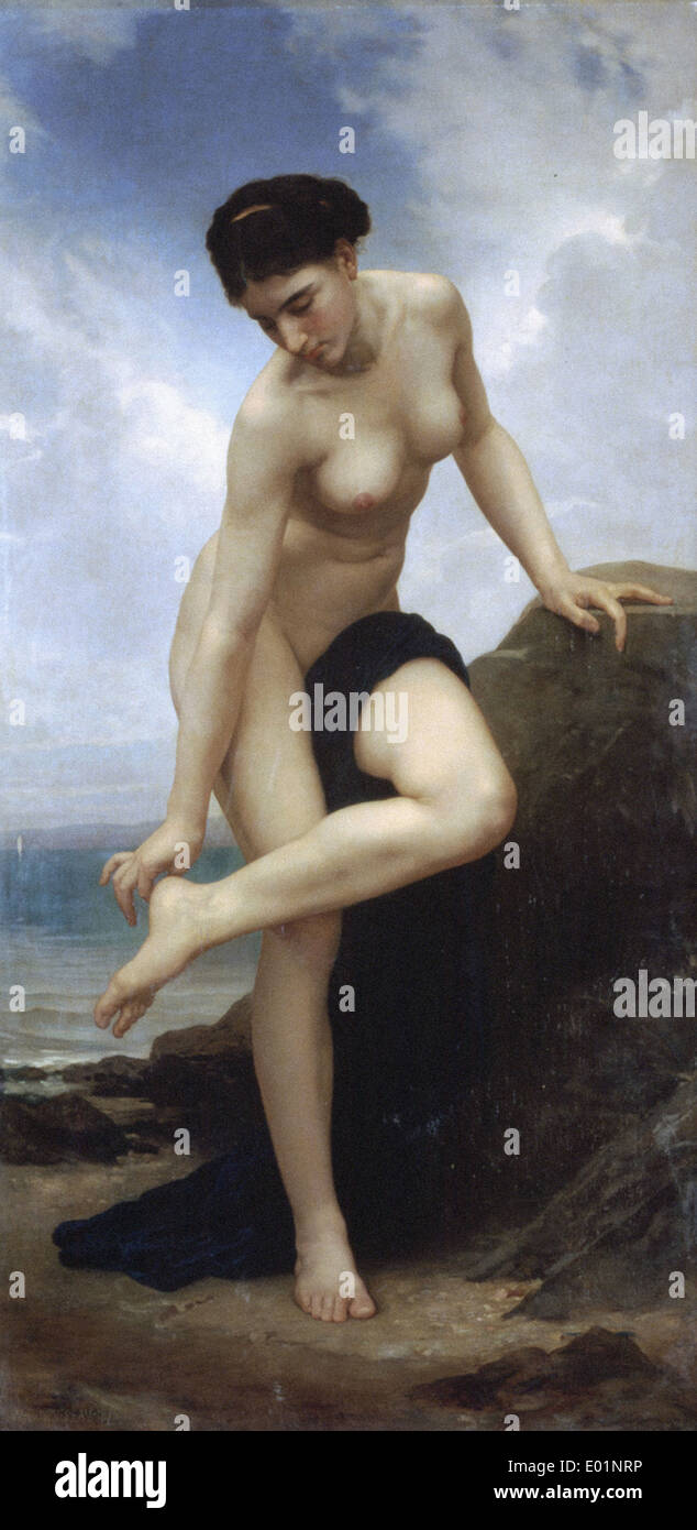 William Bouguereau After the Bath - Stock Image