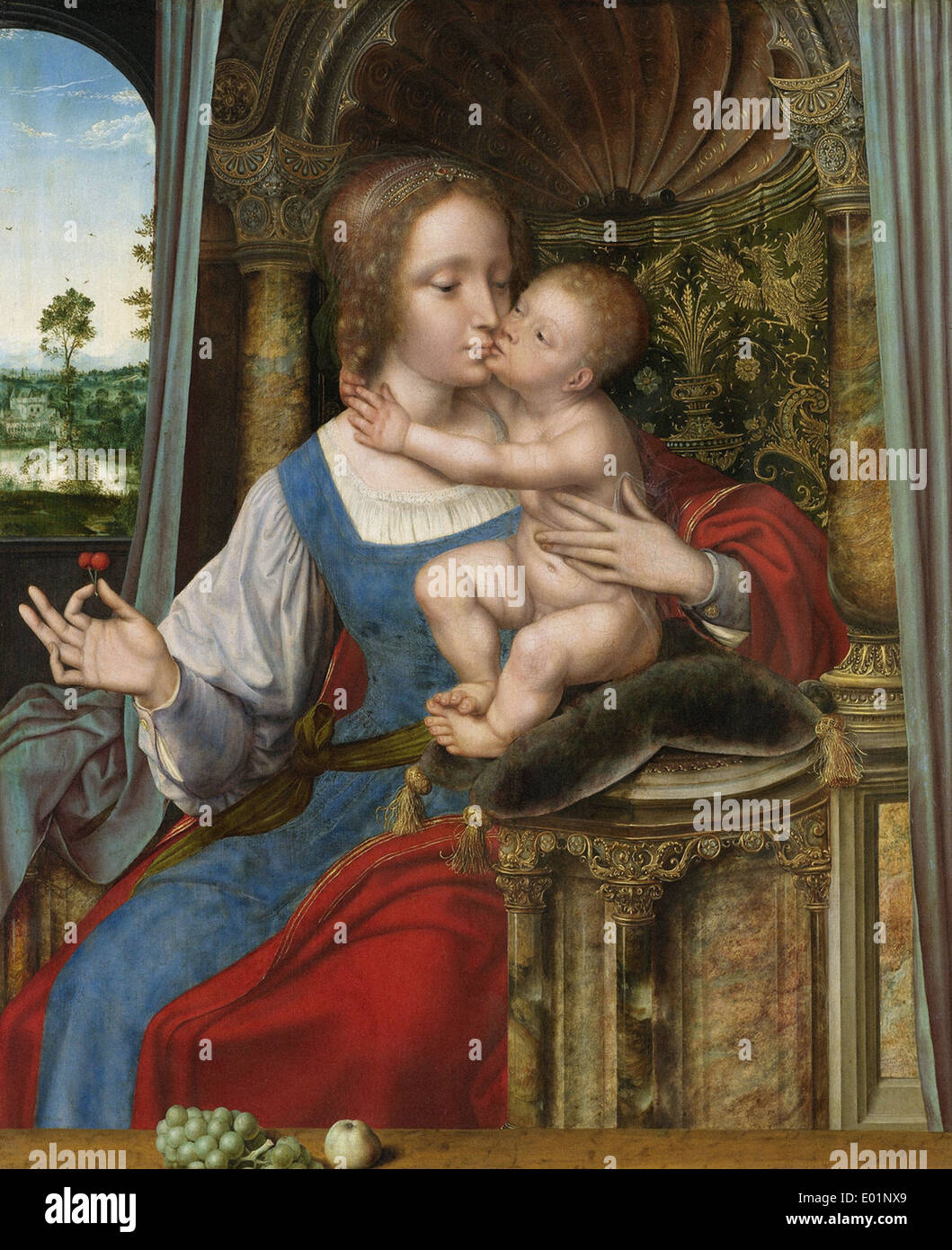 Quentin Massys Virgin and Child 3 - Stock Image