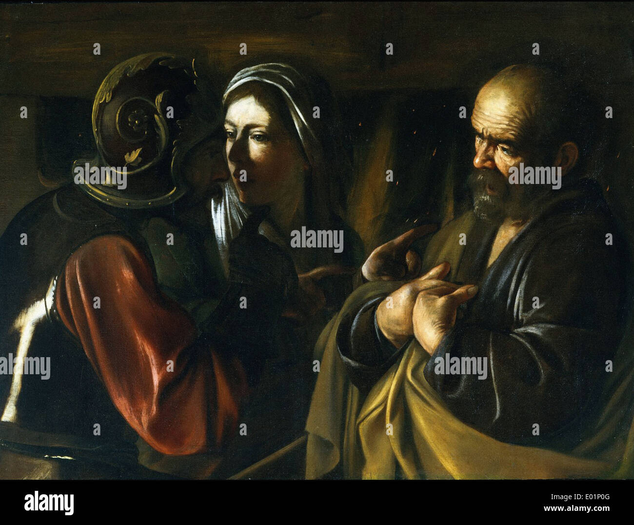 Caravaggio The Denial of Saint Peter - Stock Image