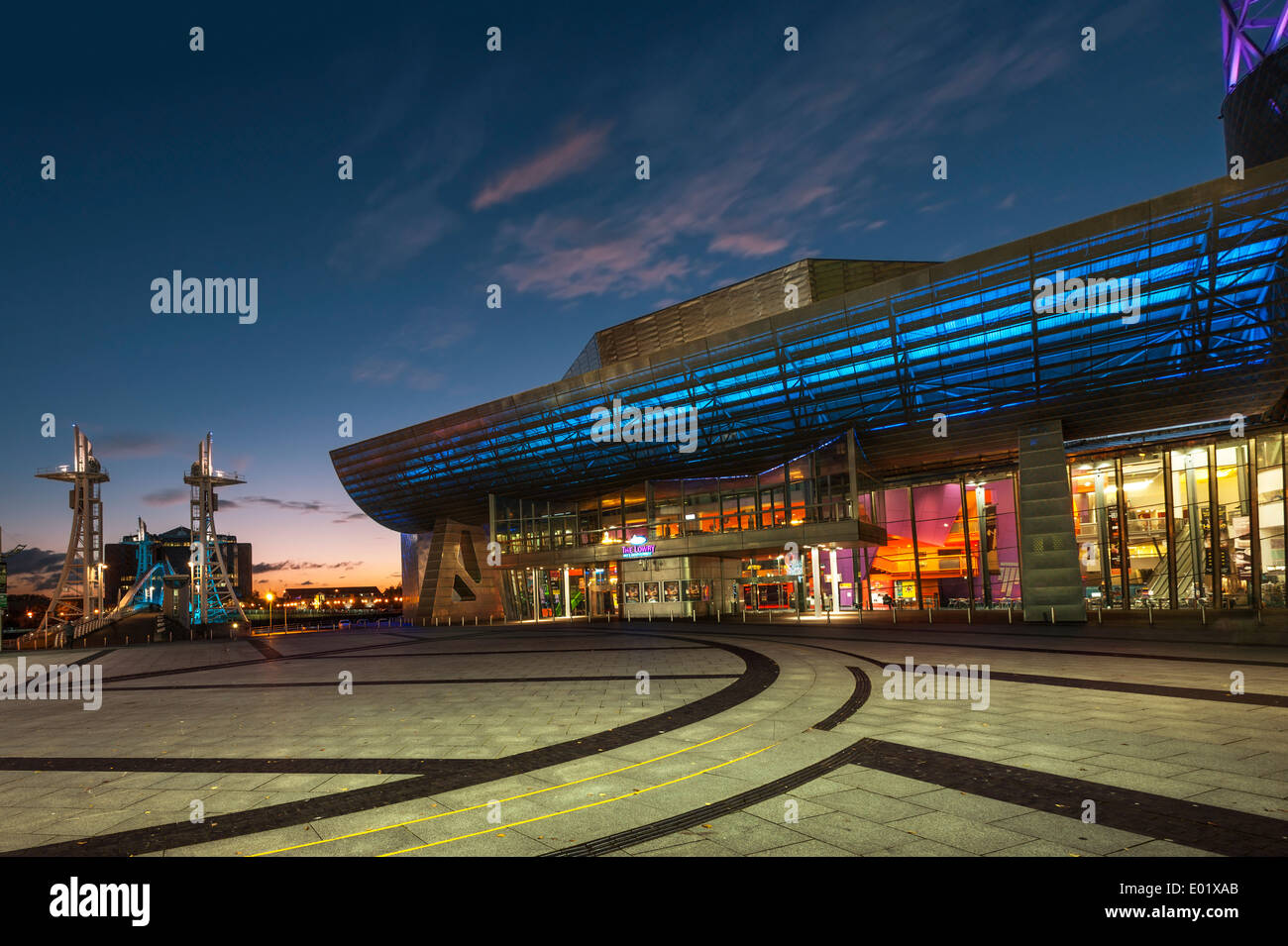 Lowry Theatre Salford Quays Manchester - Stock Image