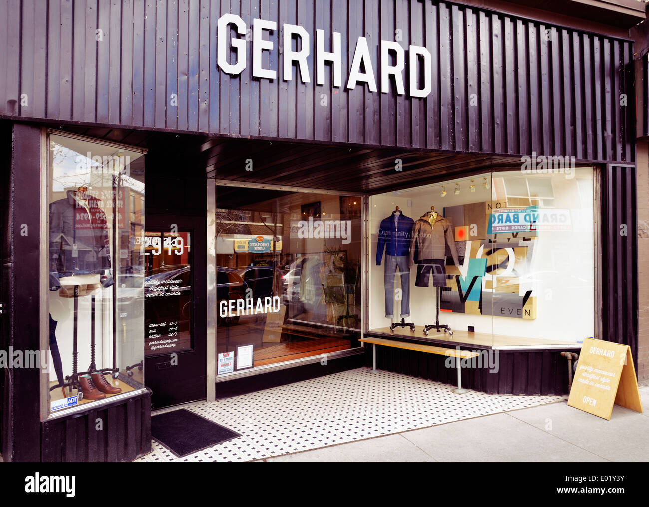 Gerhard Supply menswear clothing store at the Junction neighbourhood in Toronto, Canada - Stock Image