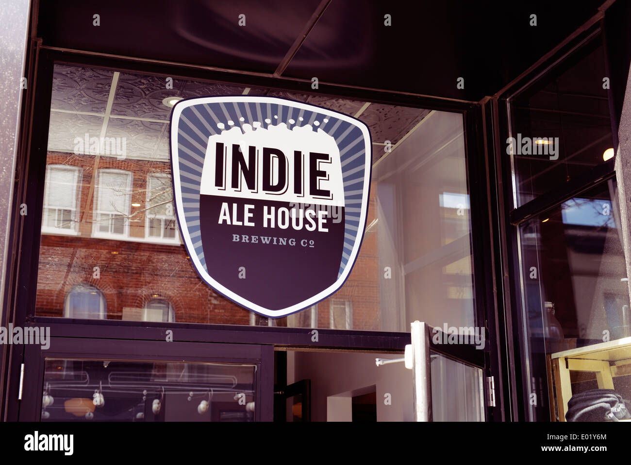Indie Ale House bar sign at the Junction, Toronto, Canada Stock Photo