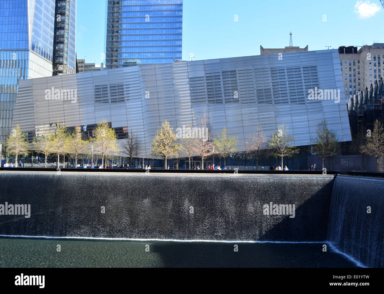 National 9/11 Museum at the 9/11 Memorial on Ground Zero in Lower Manhattan. - Stock Image