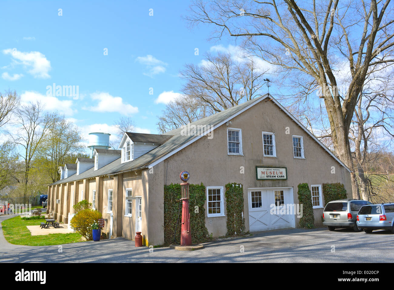 Building in Auburn Mills Historic District, added to the NRHP on January 22, 1980. Located west of Yorklyn, Delaware on Delaware - Stock Image
