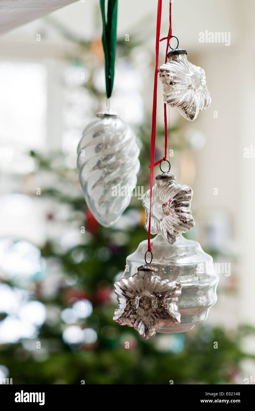 Detail of Christmas decorations - Stock Image