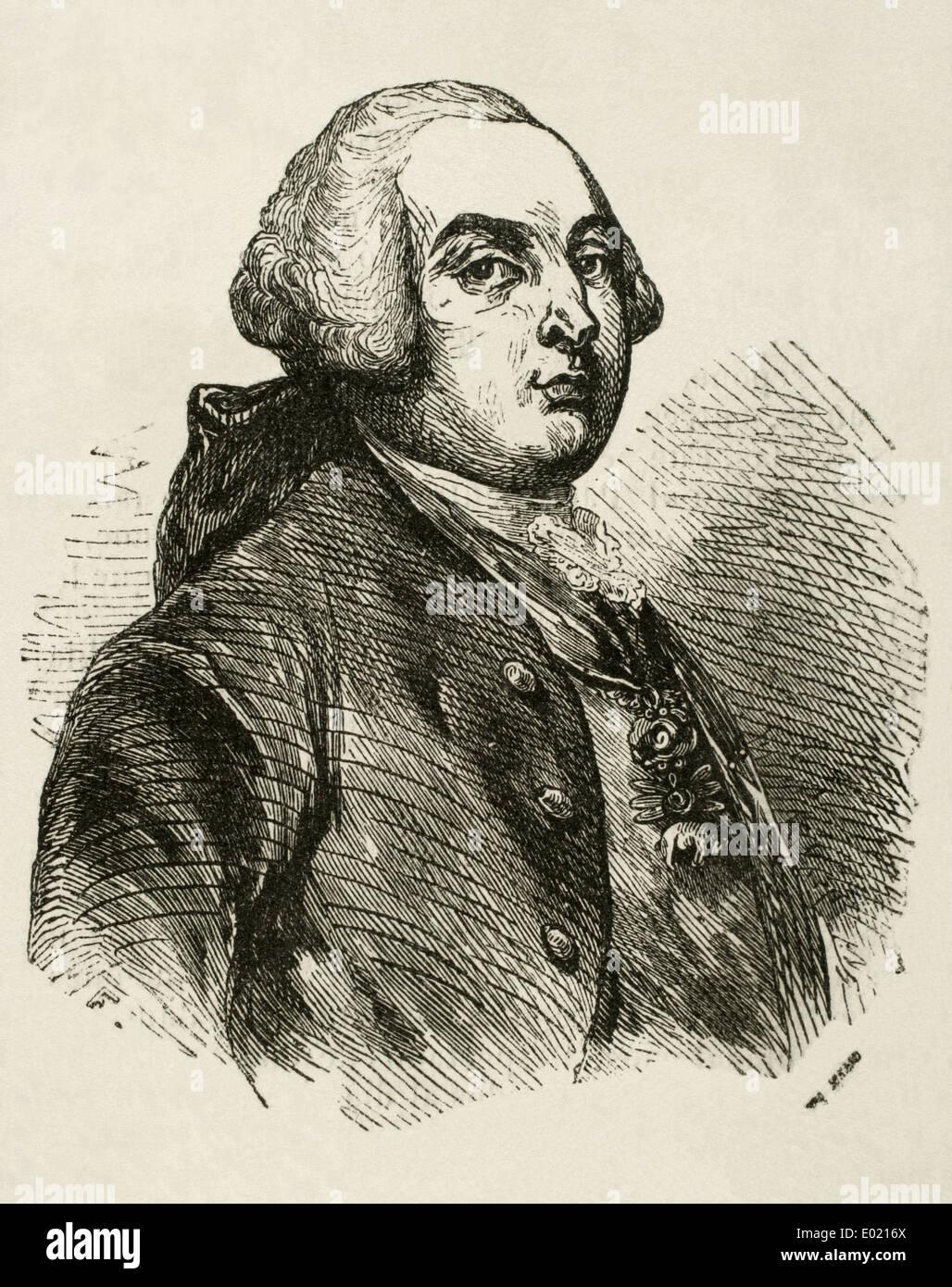 Louis XVI (1754-1793). King of France. Engraving. - Stock Image