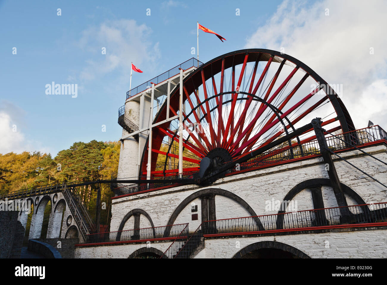 The Great Laxey Wheel, Isle of Man Stock Photo