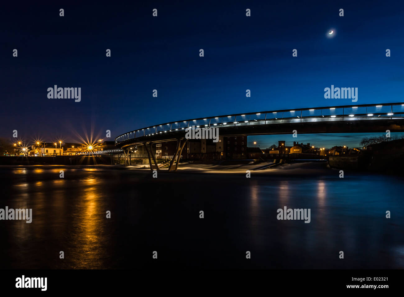 Millennium Bridge  Castleford - Stock Image
