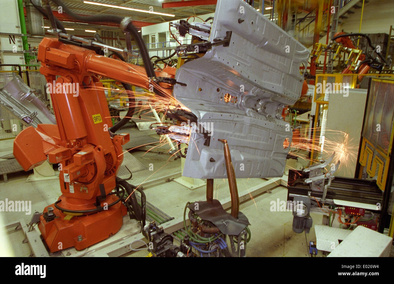 Automotive Industry Manufacturing Stock Photos Wiring Harness Manufacturers In Pune Welding Robot Action Car Plant Image