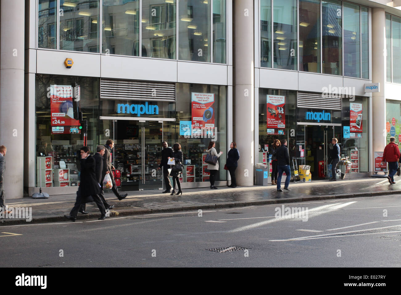 Maplin shop near St Pauls Cathedral - Stock Image