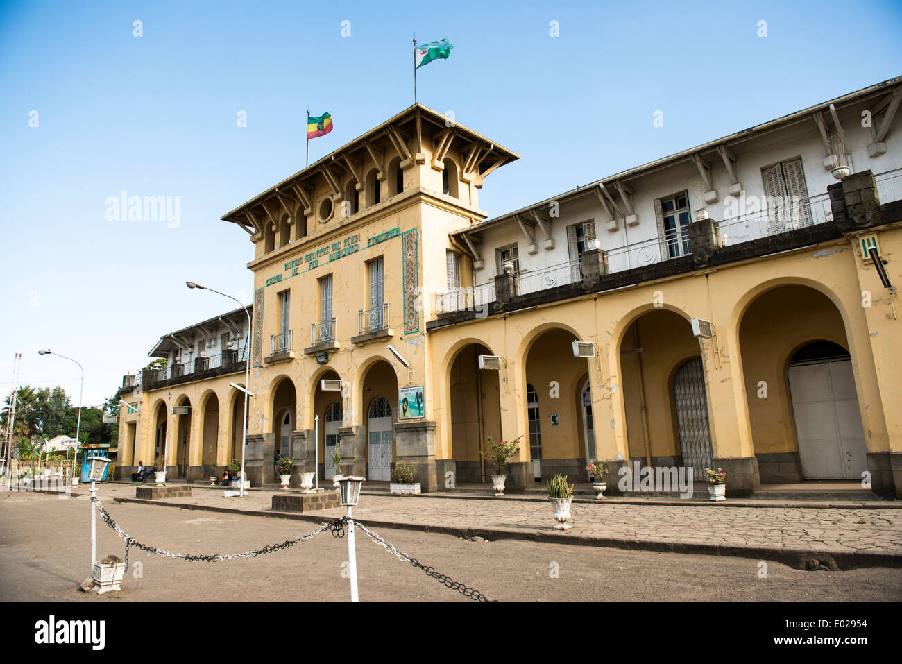 The Ethiopia- Djibouti railway station in Addis Ababa. - Stock Image