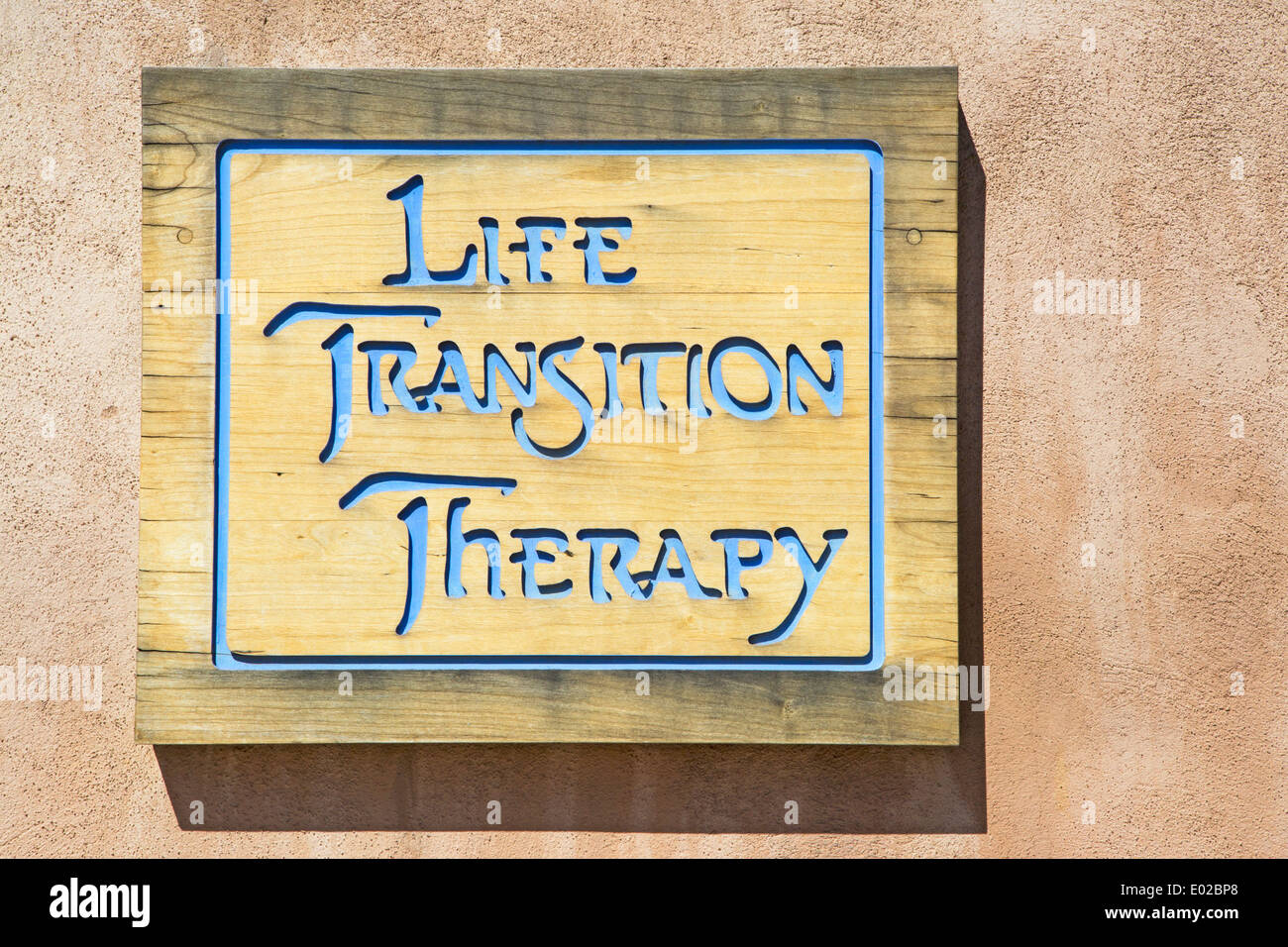 Life Transition Therapy sign - Stock Image