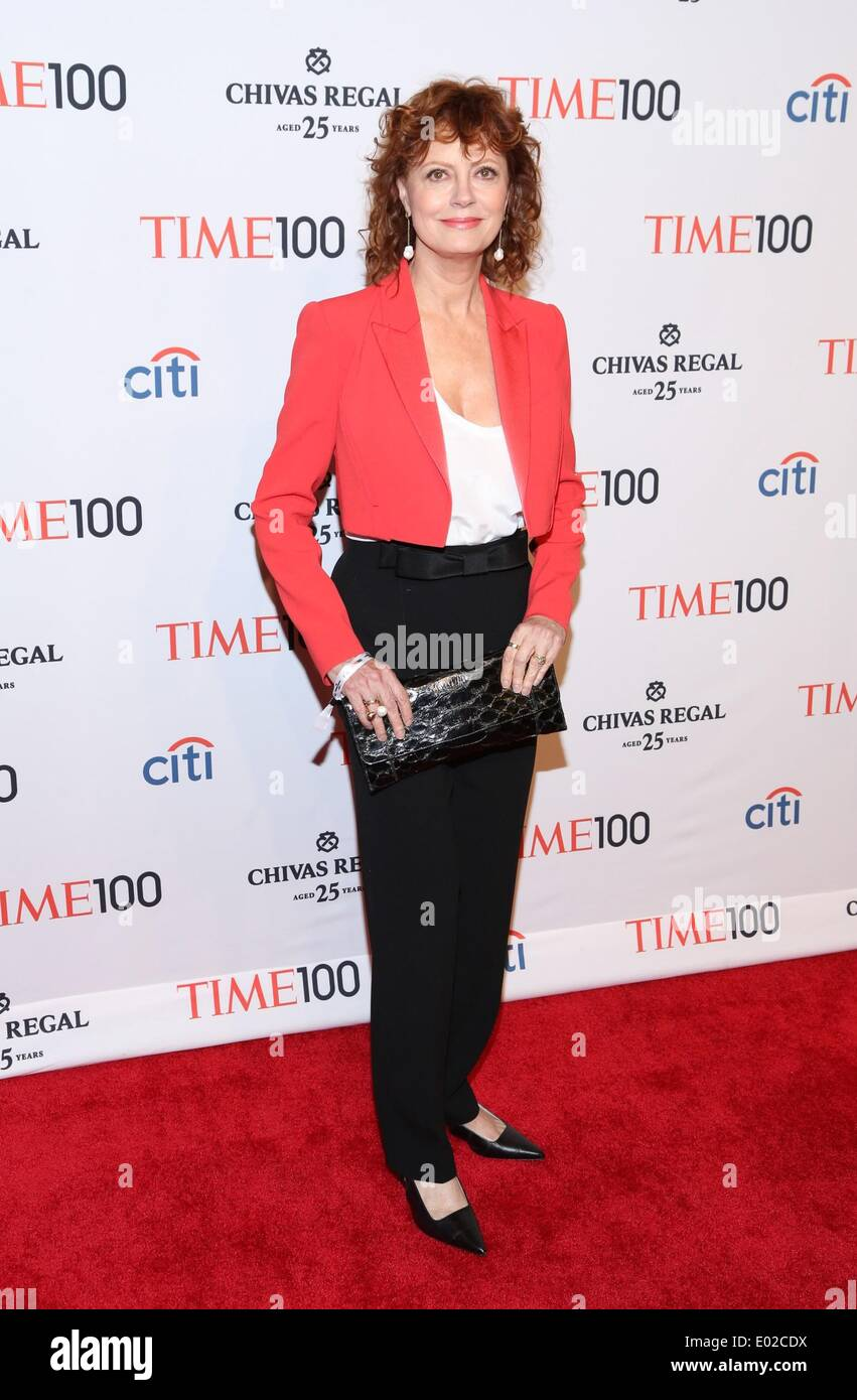 New York, NY, USA. 29th Apr, 2014. Susan Sarandon at arrivals for Time 100 Gala Dinner, Jazz at Lincoln Center's Fredrick P. Rose Hall, New York, NY April 29, 2014. Credit:  Andres Otero/Everett Collection/Alamy Live News - Stock Image