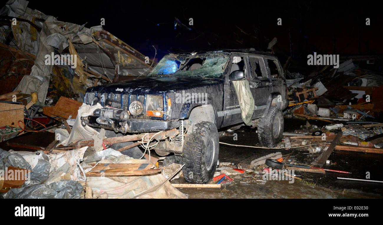 Usa  27th Apr, 2014  Damage from the Mayflower Arkansas tornado that