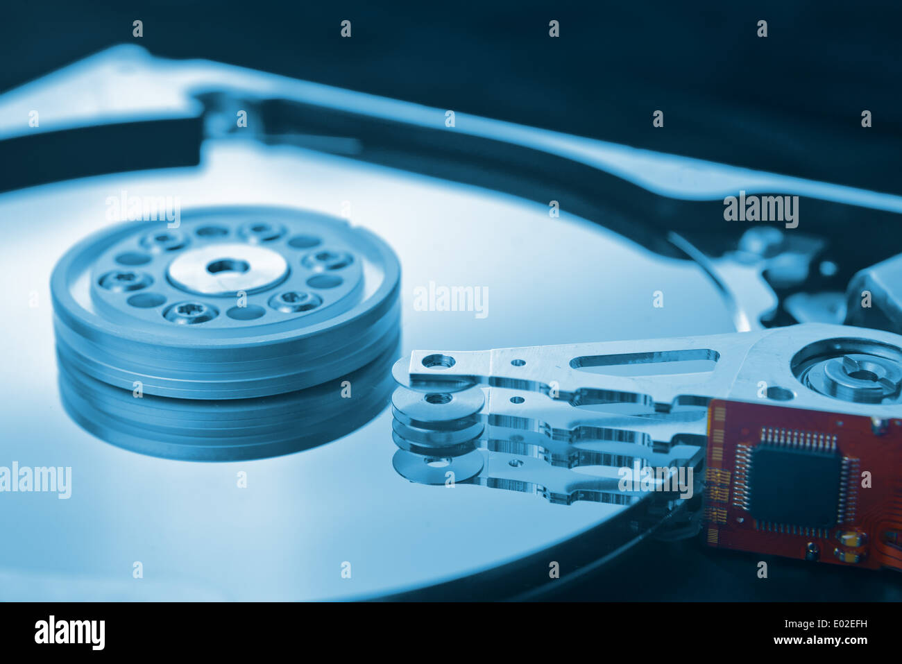 Computer hard disk close up - Stock Image