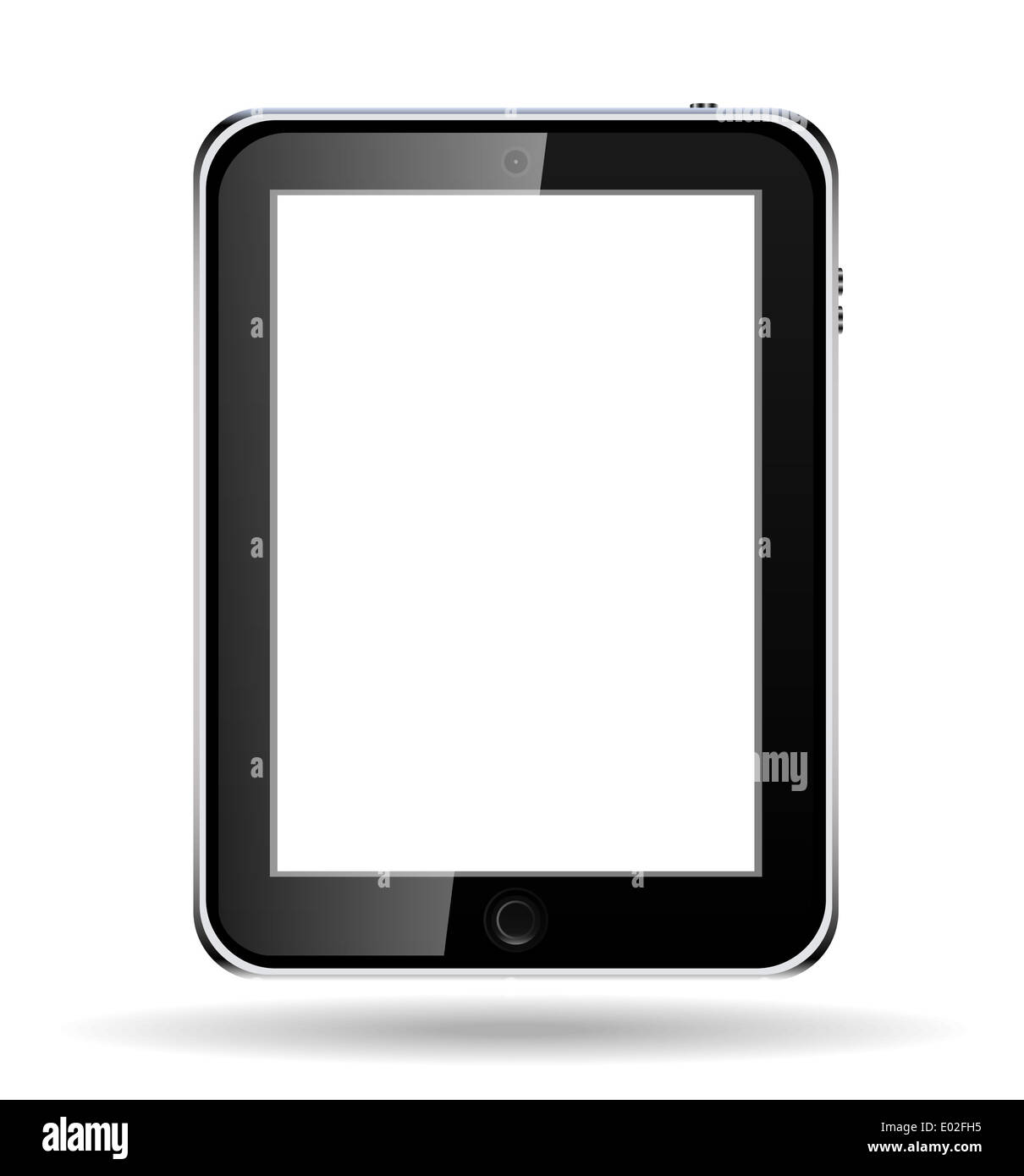 Realistic tablet computer with blank screen. - Stock Image