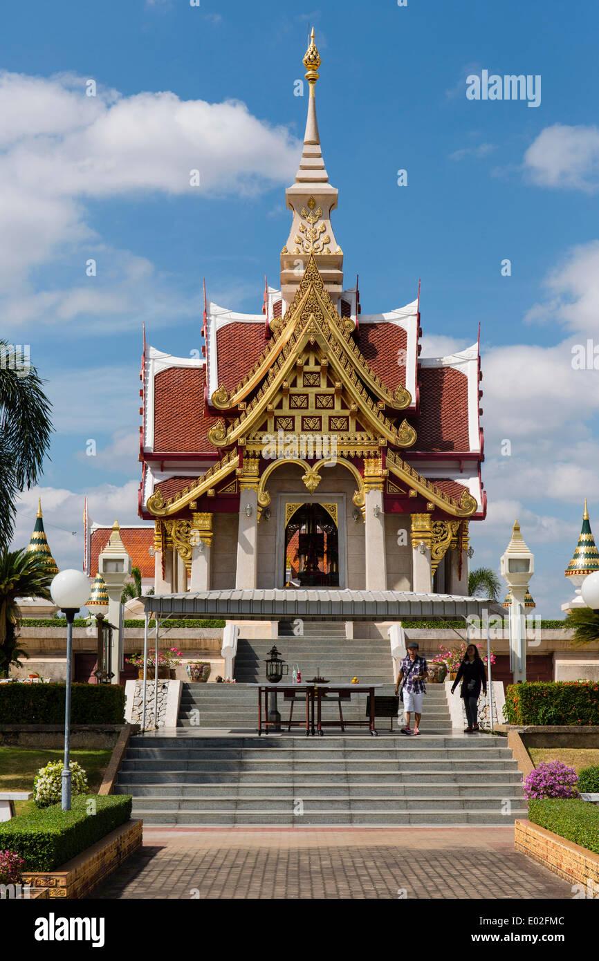Sao Lak Mueang, City Pillar Shrine, Thung Sri Muang Park, Udon Thani, Isan or Isaan, Thailand - Stock Image