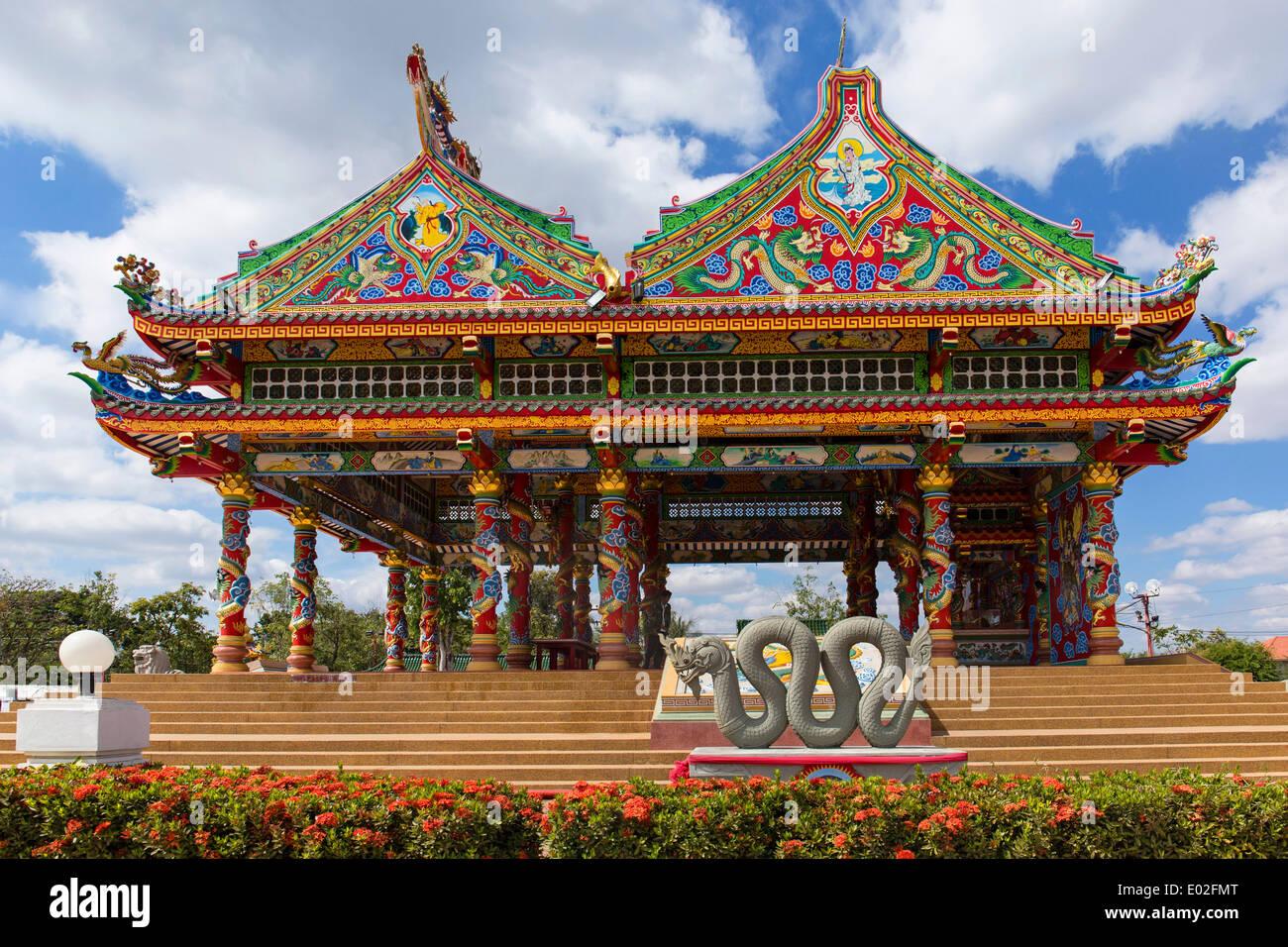 Chinese Chao Pu-Ya Shrine, Thung Sri Muang Park, Udon Thani, Isan or Isaan, Thailand - Stock Image