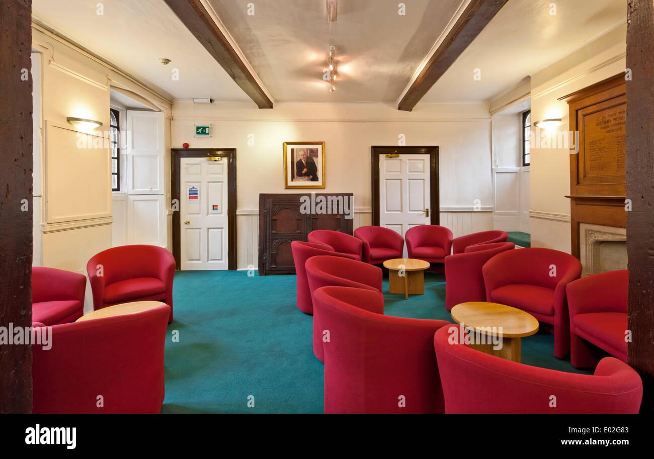 Jesus College Oxford, Oxford, United Kingdom. Architect: N/A, 1571. Harold Wilson room. - Stock Image