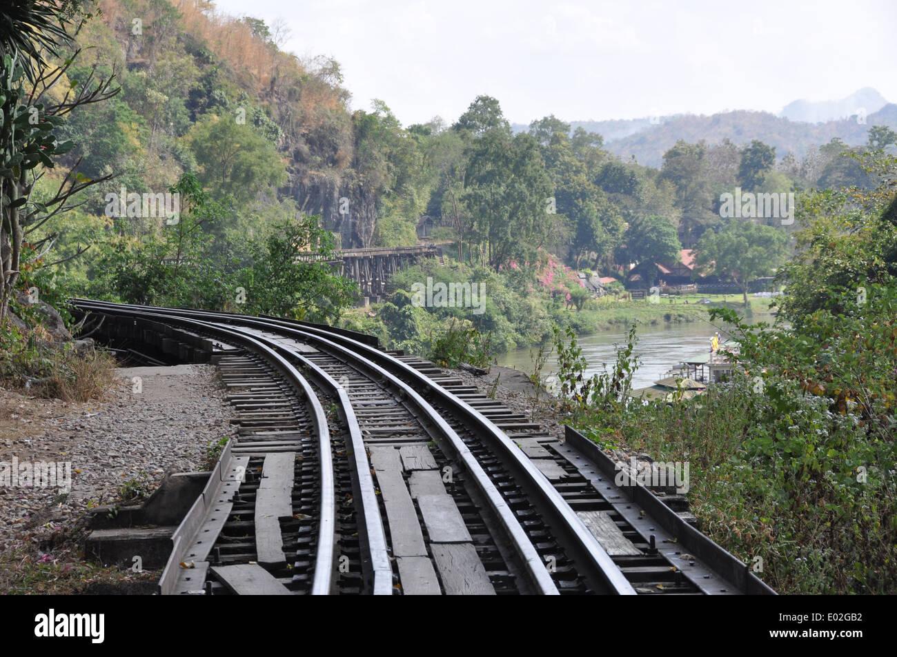 Thai Burma railway. - Stock Image
