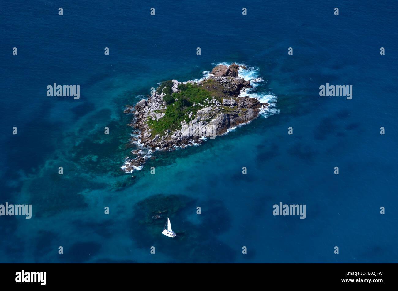 Africa, Seychelles Islands, tiny Island off mahè - Stock Image