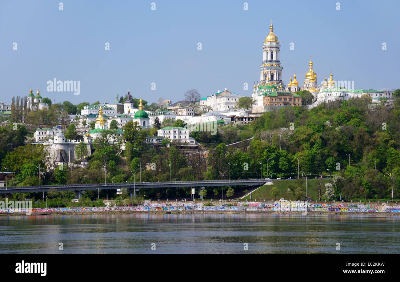 Kiev spring, view of the Lavra - Stock Image