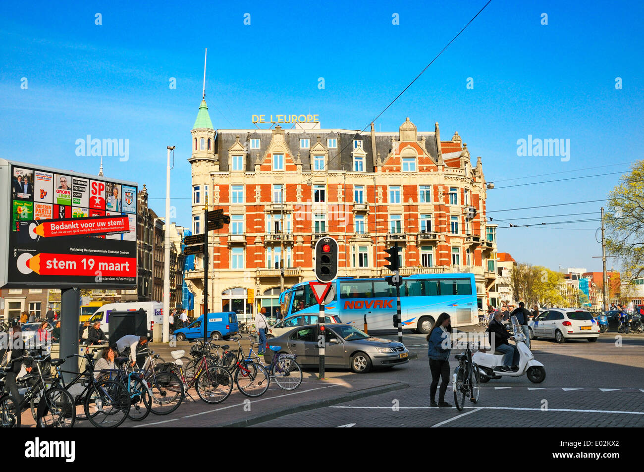 Hotel De L'Europe, Amsterdam, Netherlands - Stock Image