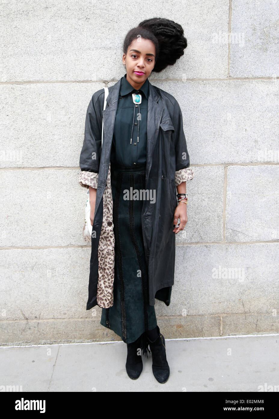 Cipriana Quann strolling in New York City - April 25, 2014 - Photo: Runway Manhattan/Charles Eshelman/picture alliance - Stock Image