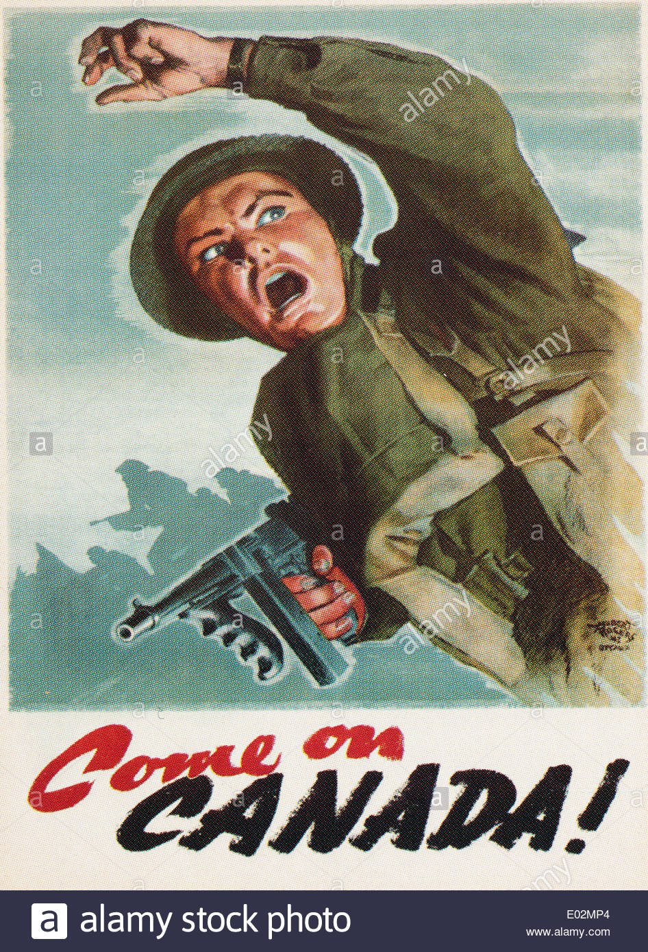 World war 2 Canadian moral booster poster issued in 1942. EDITORIAL ONLY - Stock Image