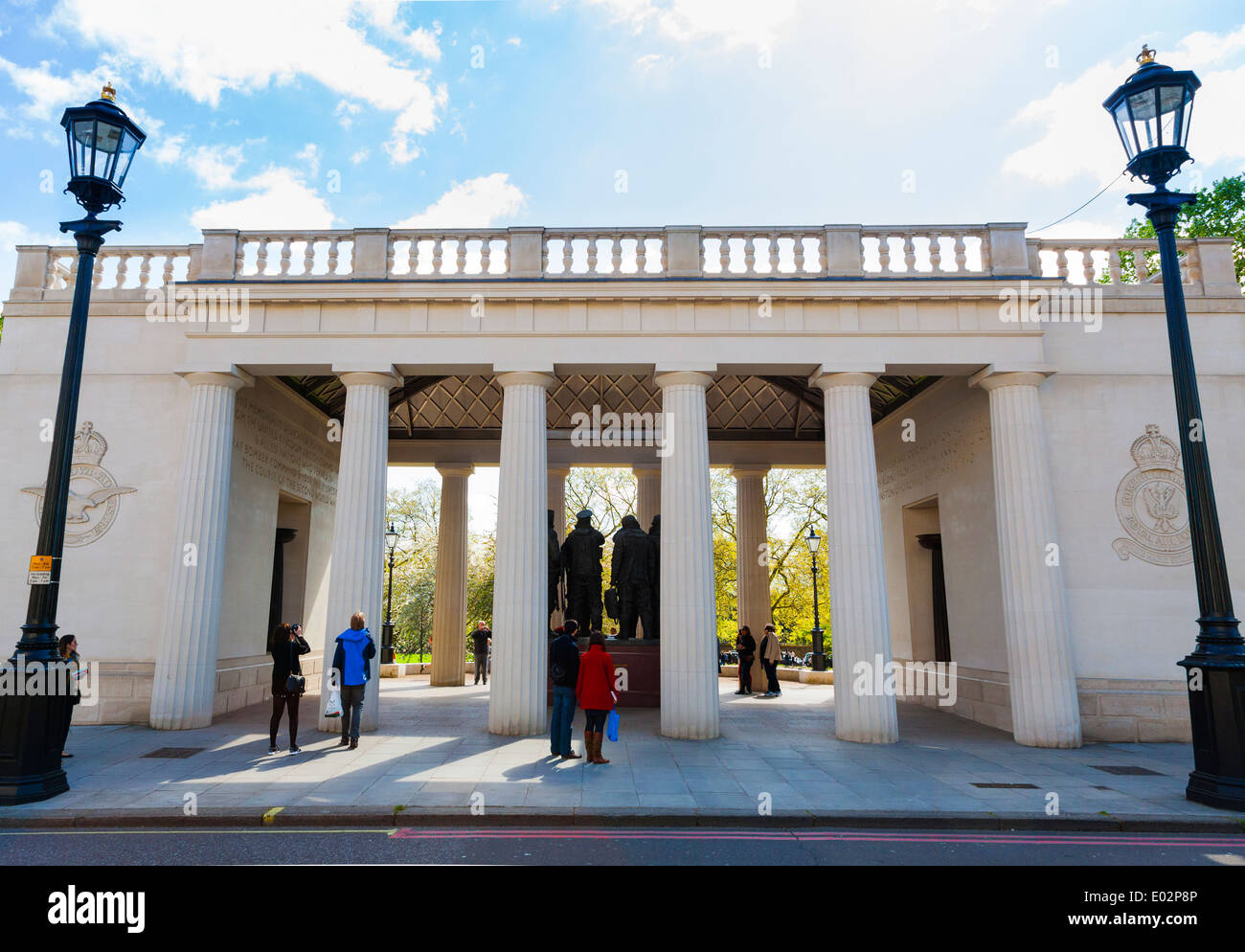 Bomber Command Memorial in Green Park London. - Stock Image