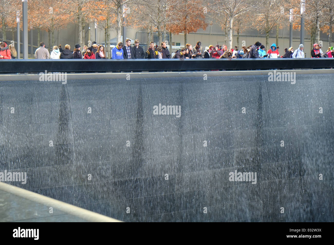 9/11 ground zero memorial site for the world trade towers, New York, USA Stock Photo