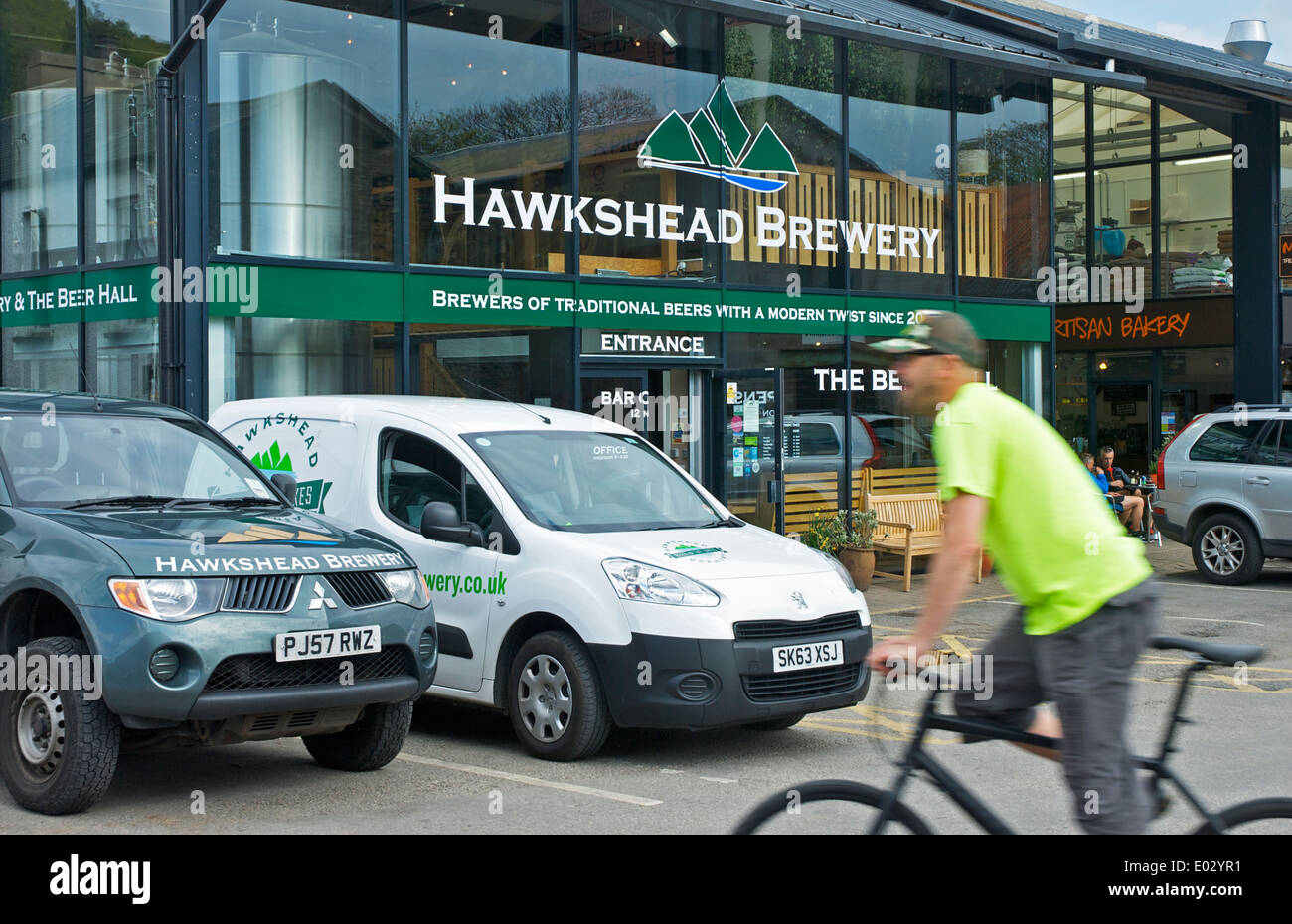 Hawkshead Brewery in the village of Staveley, South Lakeland, Lake District National Park, Cumbria, England UK - Stock Image