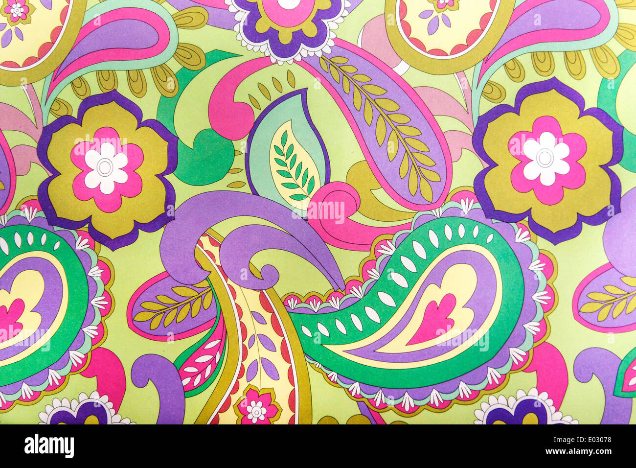 Funky Psychedelic Vintage Pattern Texture - Stock Image