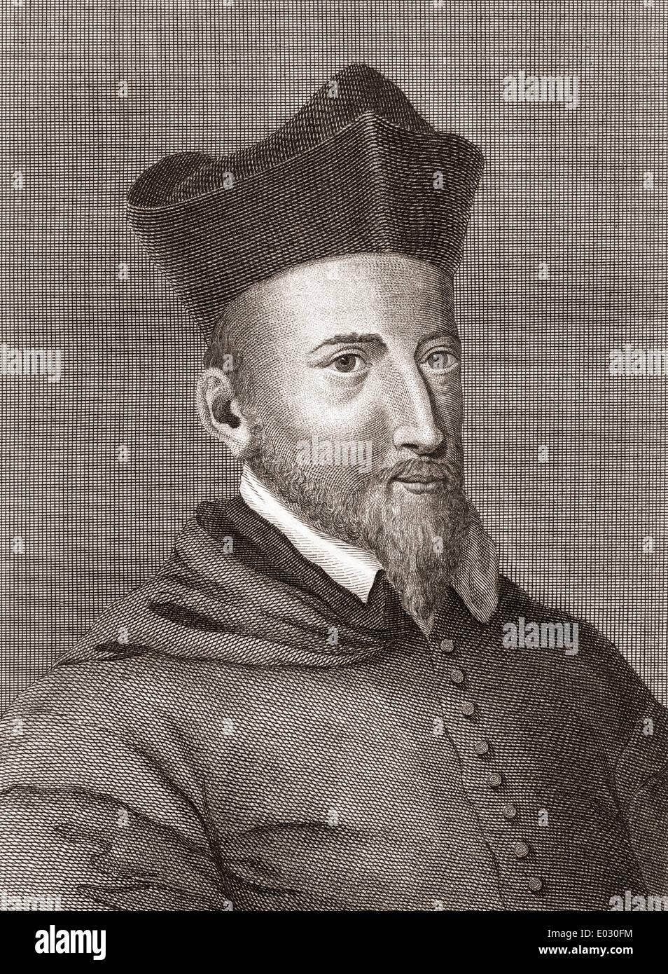 John Lesley, or Leslie, 1527 –1596. Scottish Roman Catholic bishop of Ross and historian. - Stock Image