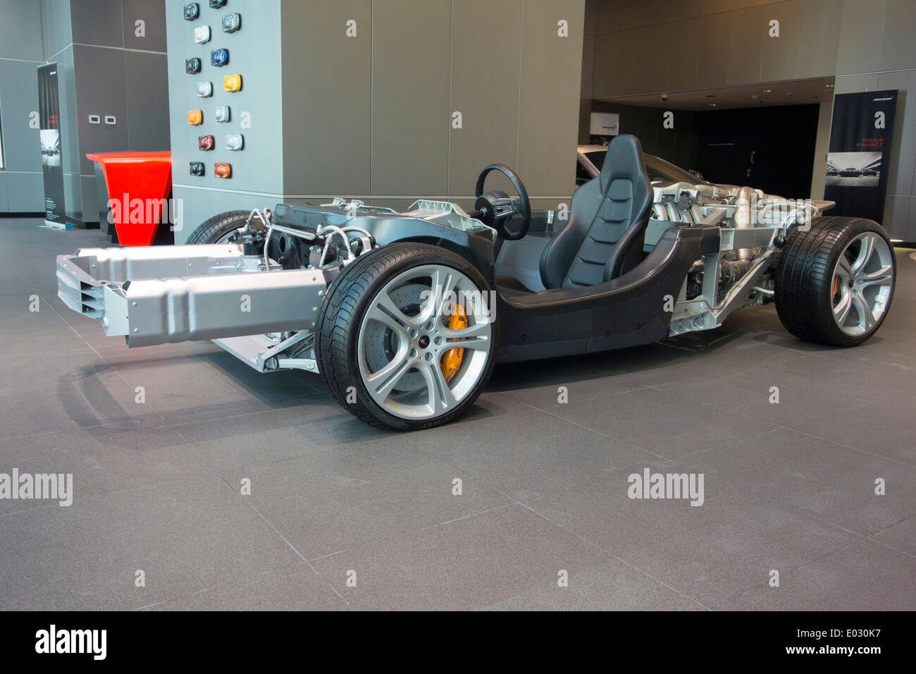 McLaren MP4 12C Sports Car Rolling Chassis Stock Photo: 68907867 - Alamy