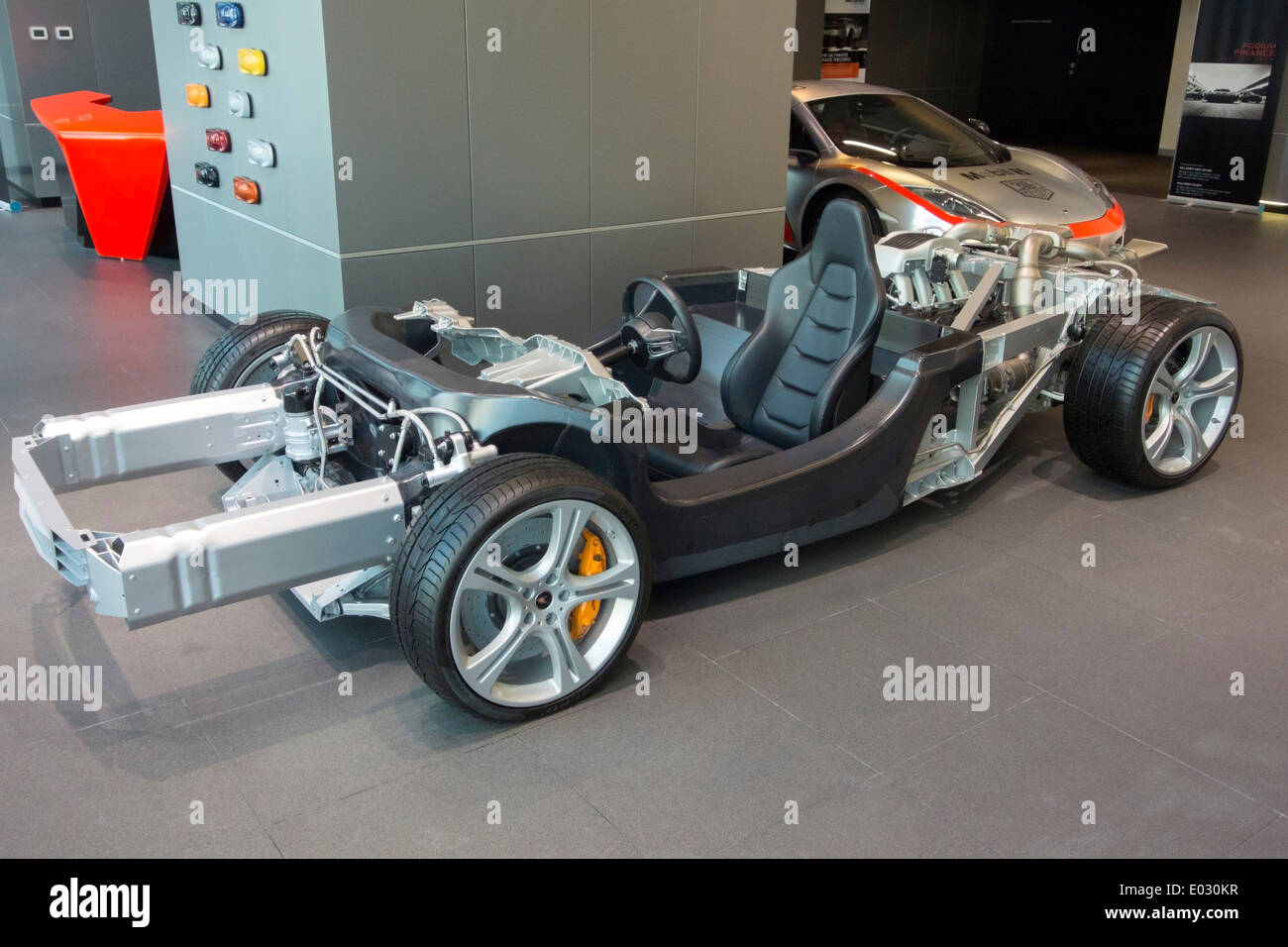 McLaren MP4 12C Sports Car Rolling Chassis Stock Photo: 68907883 - Alamy
