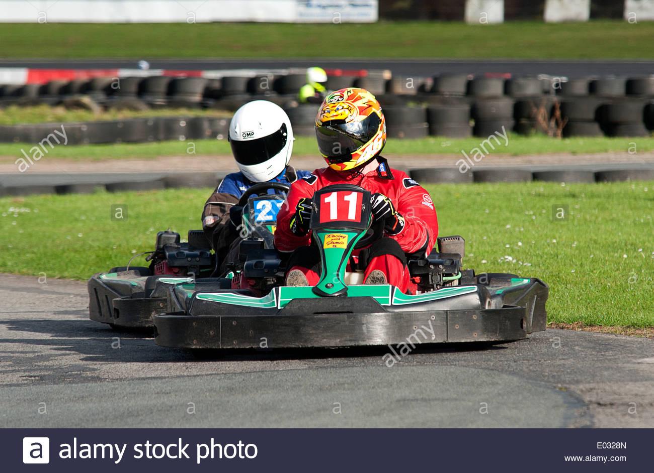 Go Kart Go Cart Championship Race Held At Teesside Motorsports