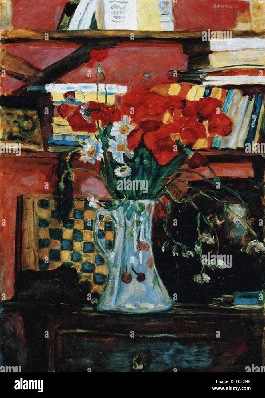Pierre Bonnard Fleurs et Livres - Stock Image