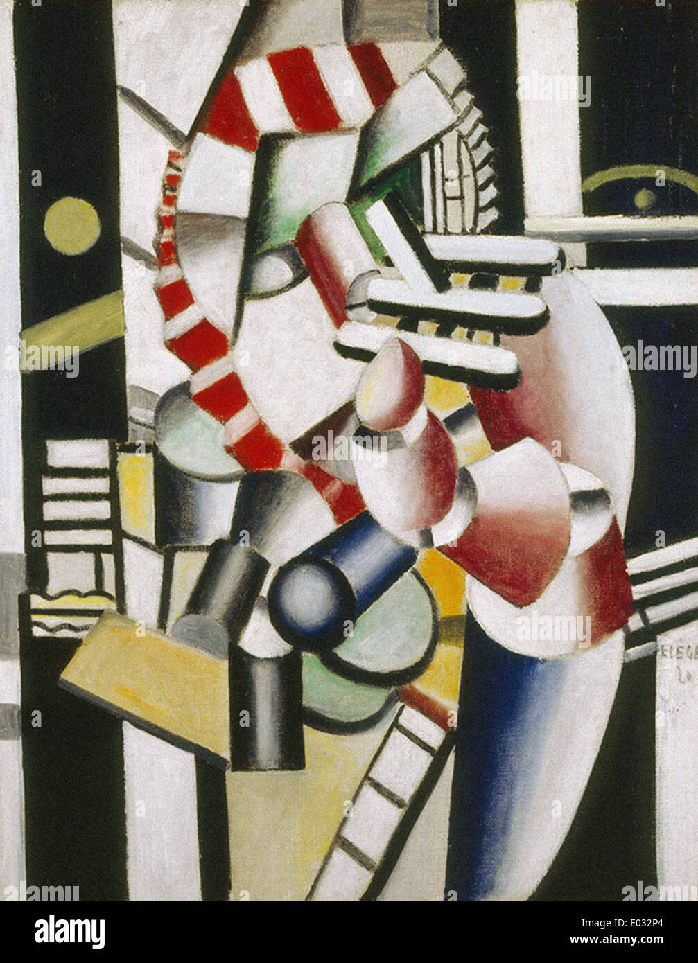 Fernand Léger The Wounded II - Stock Image