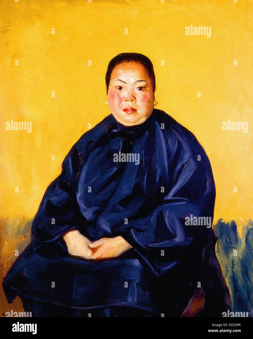 Robert Henri Chinese Lady - Stock Image