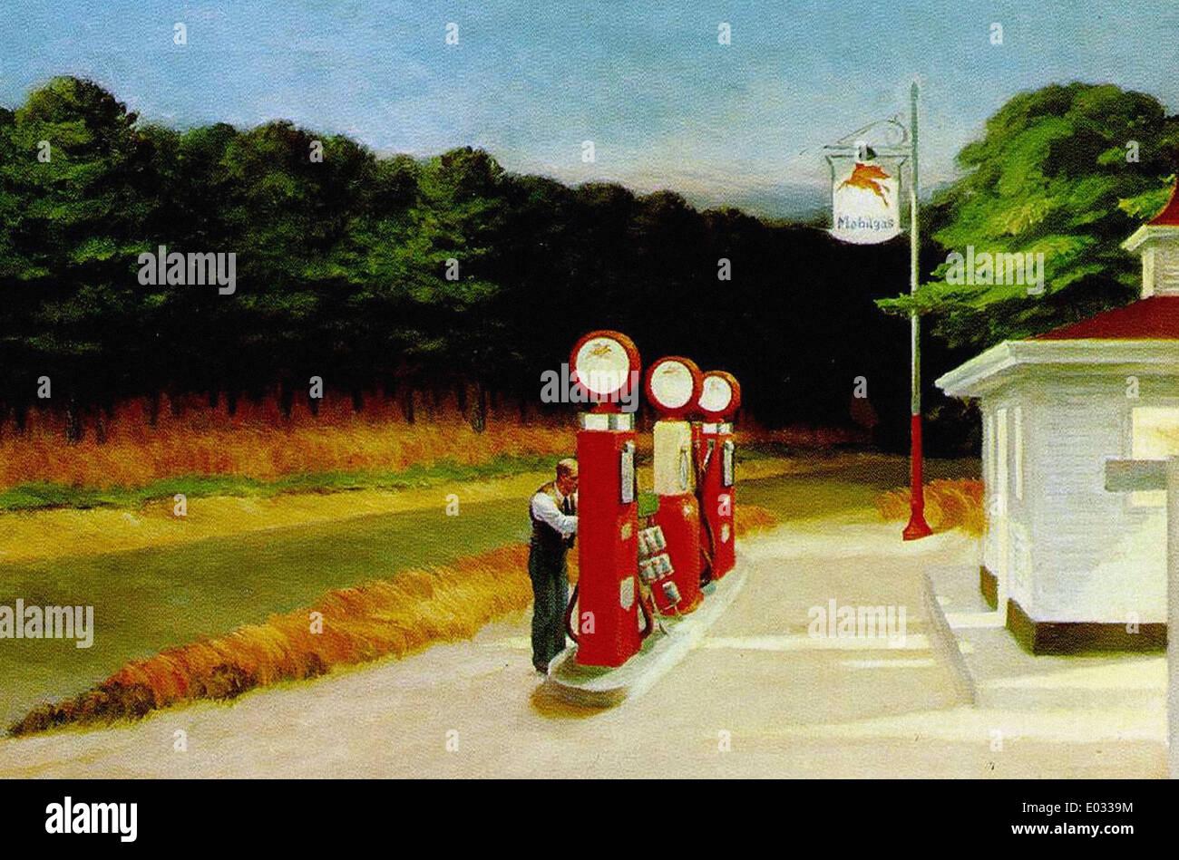 Edward Hopper Gas - Stock Image