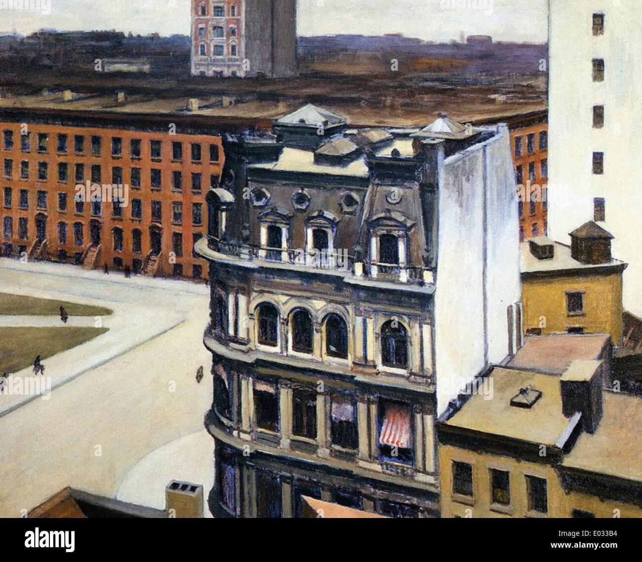 Edward Hopper The City - Stock Image