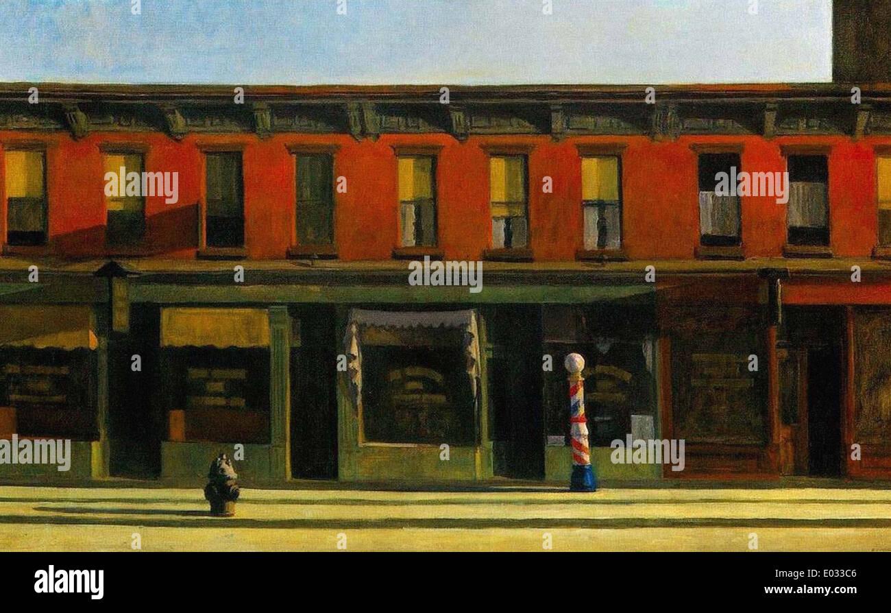 Edward Hopper Early Sunday Morning - Stock Image