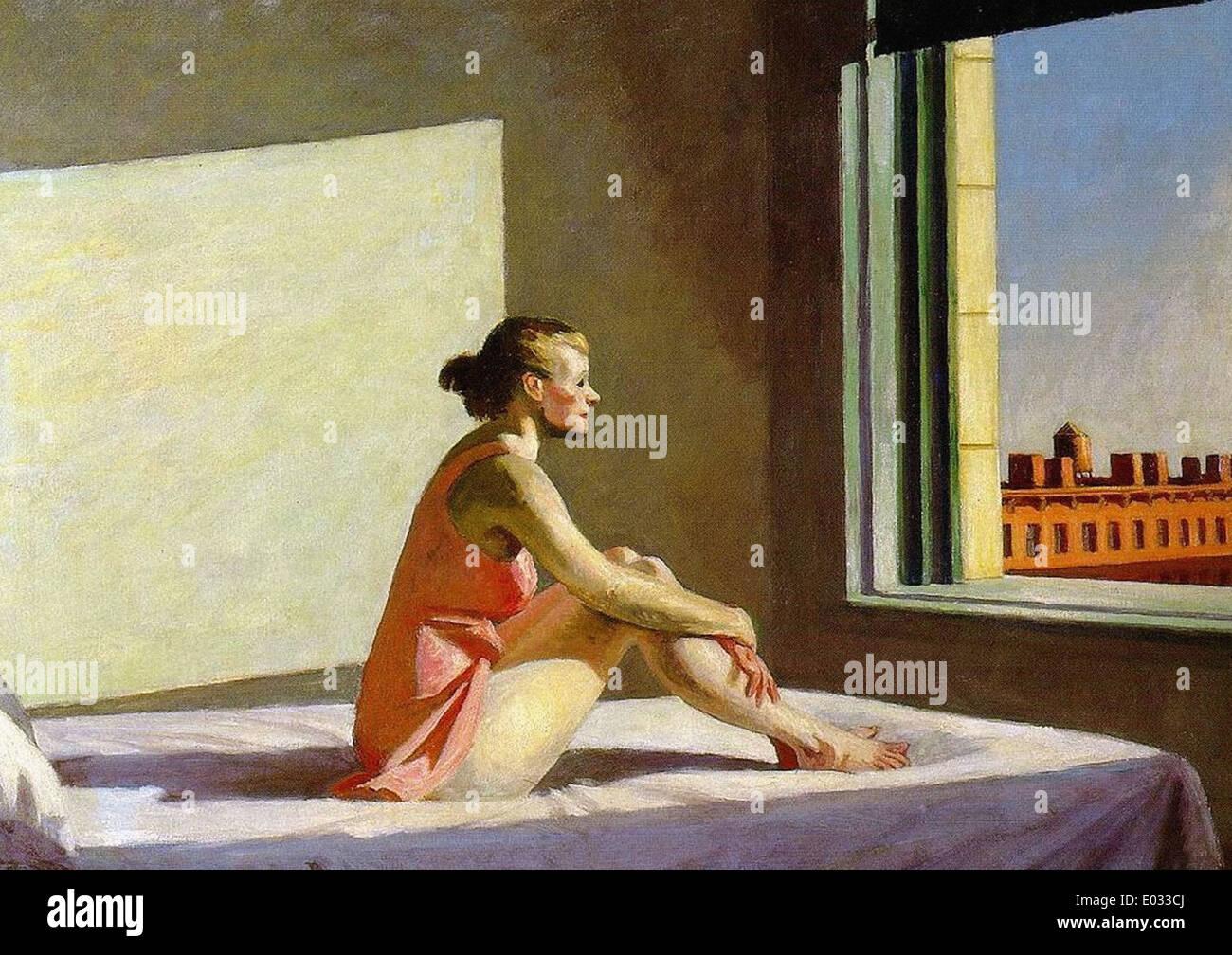 Edward Hopper Morning Sun - Stock Image